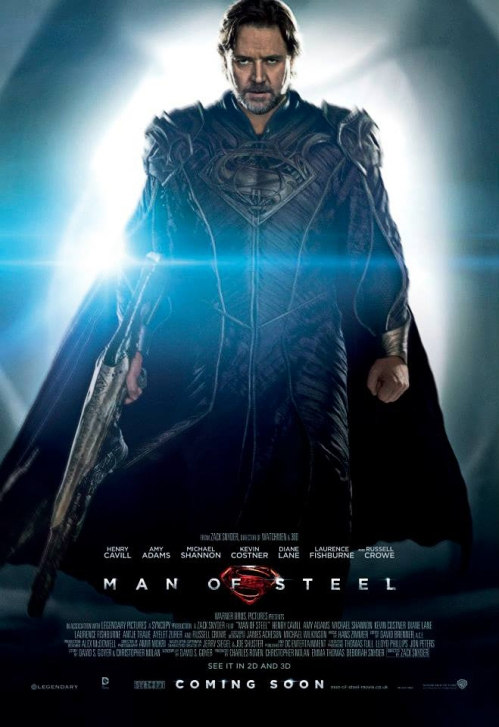 Russell Crowe Man of steel promo one sheet movie poster hot sexy rare