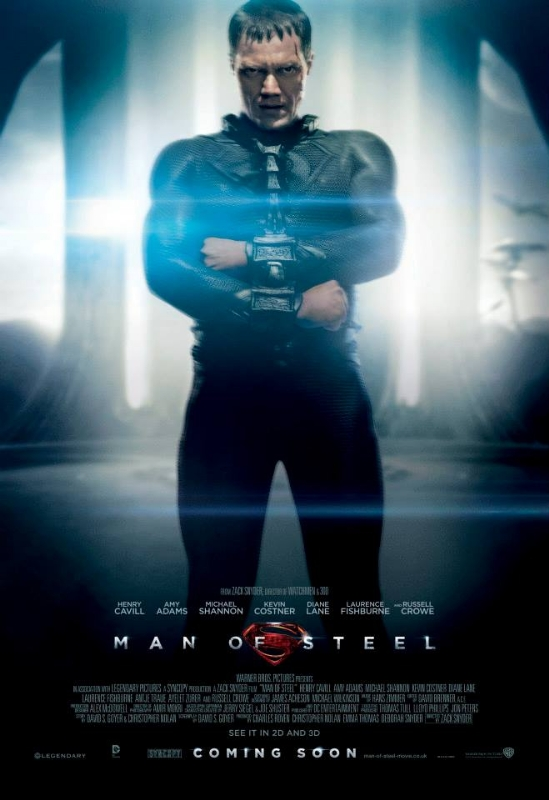 Michael Shannon Man of steel promo one sheet movie poster hot sexy rare