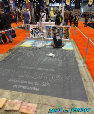 live art demo at Chicago Comic and entertainment expo c2e2 banner logo rare
