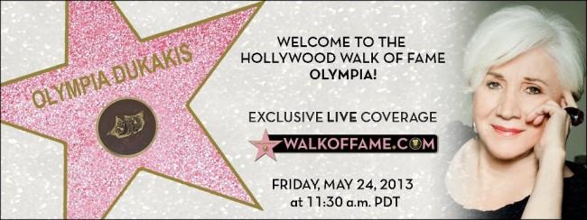 Olympia Dukakis star ceremony report hot signing autographs rare promo