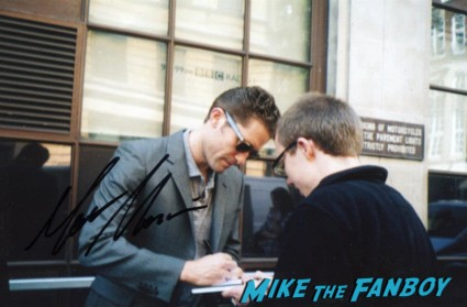 matthew morrison signing autographs at the The olivier awards red carpet 2013 with daniel radcliffe kim cattrall rre signing autographs