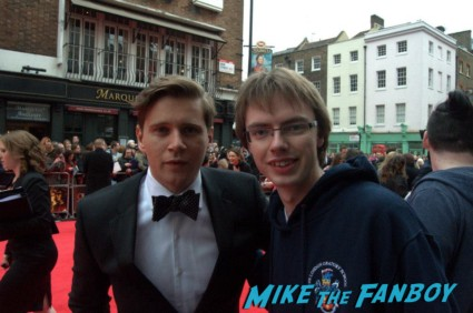 Allen Leech signing autographs at the The olivier awards red carpet 2013 with daniel radcliffe kim cattrall rre signing autographs
