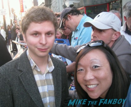 Michael Cera signing autographs at the Arrested_Development_premiere