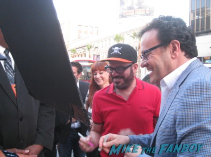 David Cross signing autographs at the Arrested_Development_premiere