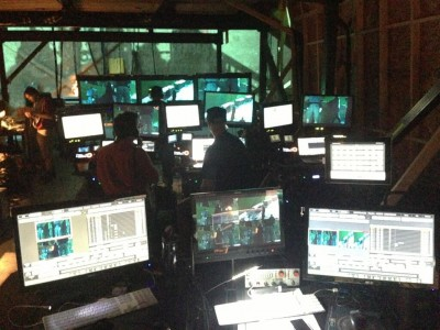 X-Men Days of Future Past behind the scenes photos basecamp aka mission control