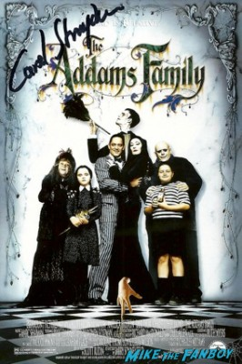 Carel Struckyen signed autograph adams family cast poster rare promo