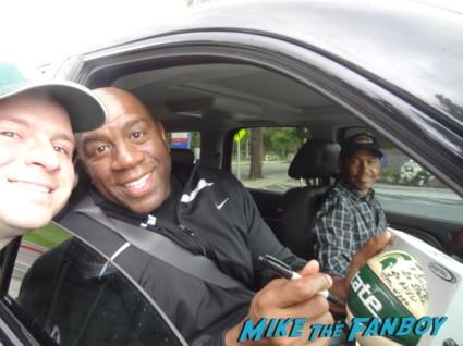 Magic Johnson signing autographs for fans rare basketball legend rare hot