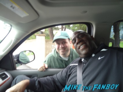 Magic Johnson signing autographs for fans rare basketball legend rare hot