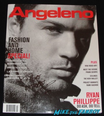 ryan phillippe signed autograph angeleno magazine hot sexy rare