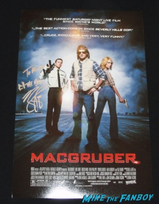 ryan phillippe signed autograph macgruber movie poster rare promo Ryan Phillippe signing autographs for fans hot sexy rare photo shoot sex