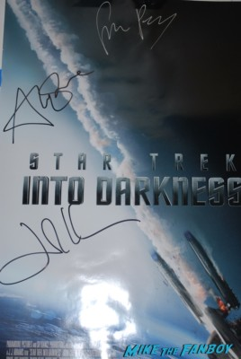star trek into darkness signed autograph movie poster simon pegg alice eve john cho