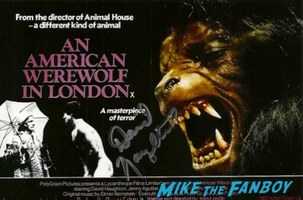David Naughton signed autograph american werewolf in london poster