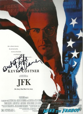 ed asner signed autograph jfk movie poster rare promo hottie Dukakis Star Ceremony-5