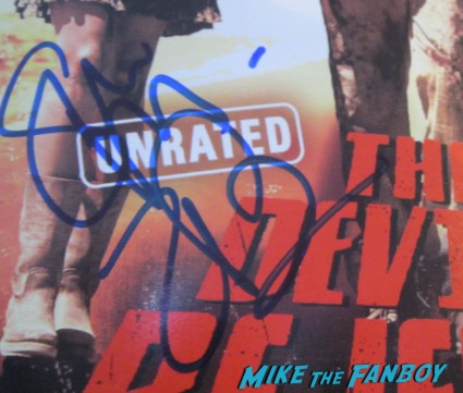 sheri moon zombie signed autograph the devil's rejects dvd cover rare sheri moon zombie and rob zombie signing autographs q and a The Haunted World of El Superbeasto rare promo still hot rare dance rob zombie rare