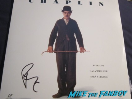 robert downey jr. signed autograph Chaplin laser disc movie poster rare promo  cover rare promo hot iron man