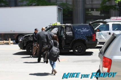 Captain America: The Winter Soldier set photos S.H.I.E.L.D. bullet riddled car rare