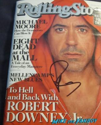 robert downey jr. signed autograph rolling stone magazine cover rare promo hot iron man