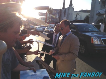 christopher meloni signing autographs for fans at th 42 movie premiere rare