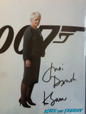 dame judi dench signed autograph 007 skyfall poster rare promo peter and alice london's west end judi dench ben whishaw rare poster rare promo