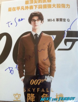 ben whishaw signed autograph 007 skyfall poster rare promo peter and alice london's west end judi dench ben whishaw rare poster rare promo
