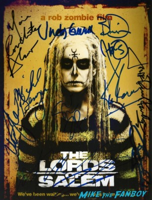 Lords of Salem cast signed autograph poster rob zombie