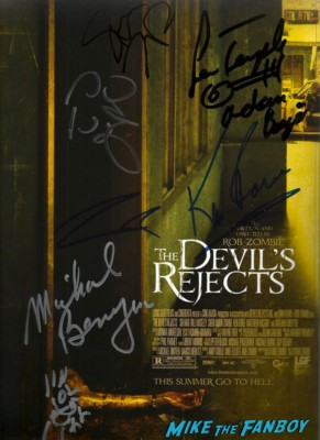 Devil's Rejects cast signed autograph poster rob zombie