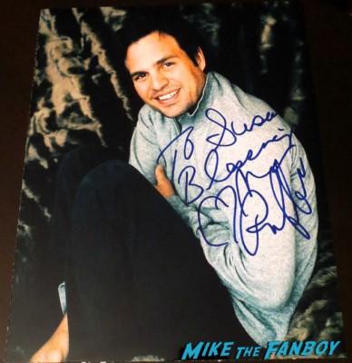 mark ruffalo signed autograph hulk limited edition poster Mark Ruffalo signing autographs for fans Hulk limited edition lithograph