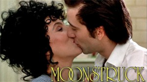Moonstruck_Title_Graphic Moonstruck one sheet movie poster rare promo hot the sonny and cher comedy hour variety show Cher academy awards outfit rare promo hot naked singer