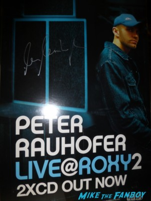 Peter Rauhofer signed autograph dj set promo poster rare hot  April 29, 1965 – May 7, 2013 live in concert rare dj set