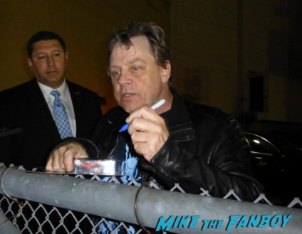 Mark Hamill signing autographs for fans capetown film festival entertaiment weekly rare promo hot luke skywalker now 2013