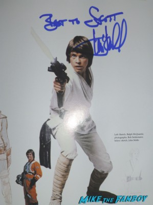 Mark Hamill signed autograph rare signature star wars promo photo Mark Hamill signing autographs for fans capetown film festival entertaiment weekly rare promo hot luke skywalker now 2013