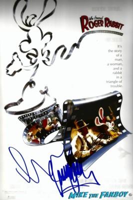 Roger Rabbit charles fleischer signed autograph rober rabbit photo movie poster rare