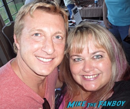William Zabka signing autographs for fans hot rare karate kid photo promo