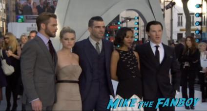 Benedict Cumberbatch chris pine zoe saldana zachary quint alive eve cast photo Star Trek into darkness london movie premiere chris pine zachary quinto hot sexy photos