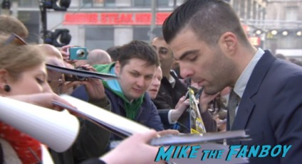 zachary quinto signing autographs Star Trek into darkness london movie premiere chris pine zachary quinto hot sexy photos