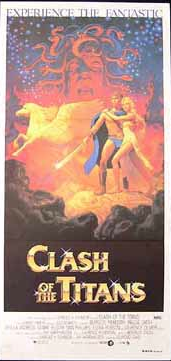clash of the titans australian daybill rare promo movie poster