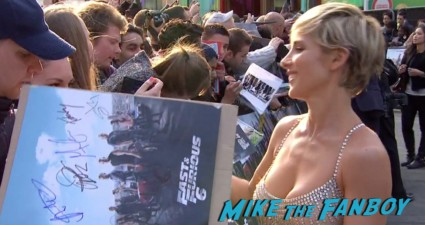 Gal Gadot signing autographs Fast And Furious 6 London UK Premiere Report & Photo Gallery! Paul Walker! Luke Evans! Vin Diesel! Michelle Rodriguez! Jordana Brewster! Ludacris! Tyrese! Autographs! Photos! And More!