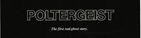 Poltergeist logo rare promo one sheet movie poster rare promo
