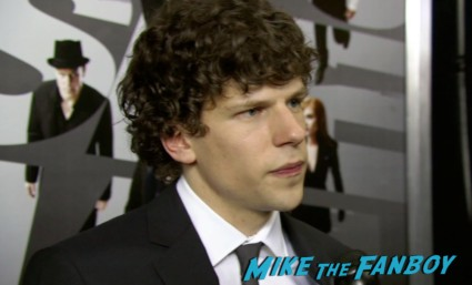 Jessie Eisenberg on the red carpet at the Now You See Me Movie Premiere New York City Mark Ruffalo Michael Caine Jessie Eisenberg Morgan Freeman Woody Harrelson
