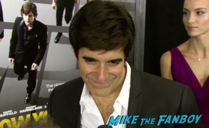 david copperfield on the red carpet at the Now You See Me Movie Premiere New York City Mark Ruffalo Michael Caine Jessie Eisenberg Morgan Freeman Woody Harrelson