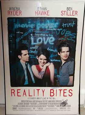 Reality Bites cast signed autograph movie poster ethan hawke winona ryder