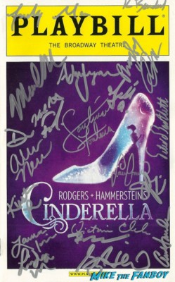 Cinderella broadway signed autograph playbill