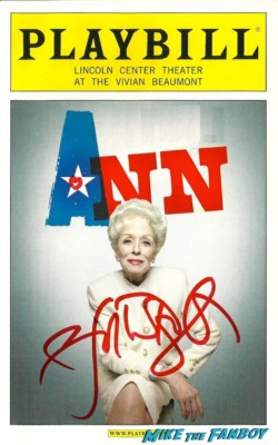 holland taylor signed autograph ann playbill rare promo hot