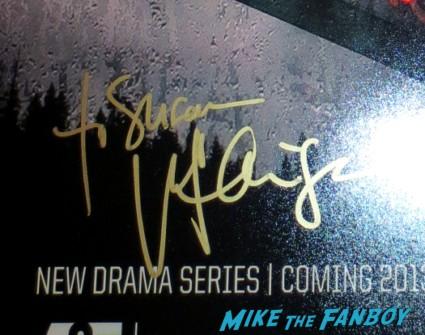 Vera farmigan signed autograph bates motel rare mini poster rare promo