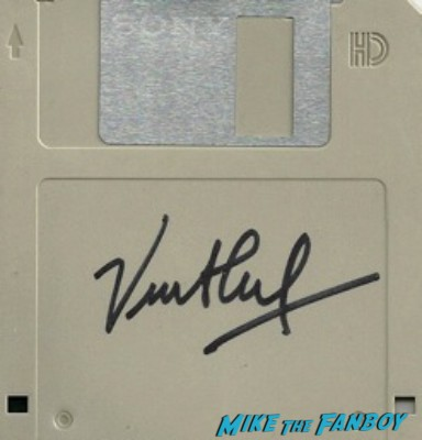 Vinton G Cerf signed autograph floppy dish rare