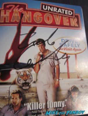 Zach Galifianakis signed autograph hangover dv cover rare DVD auto