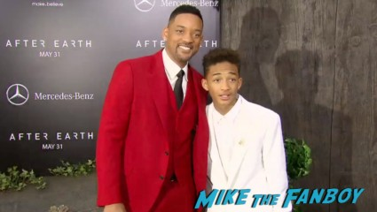 will smith on the red carpet at the  after earth movie premiere will smith red carpet signing autographs (9)