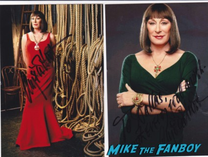 anjelica huston Amanda Seyfried signed autograph photo rare hot sexy singer photo shoot