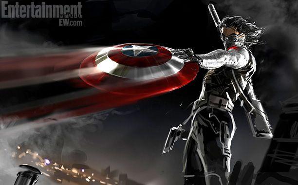 Captain America The Winter Soldier concept art rare winter soldier chris evans hot rare promo