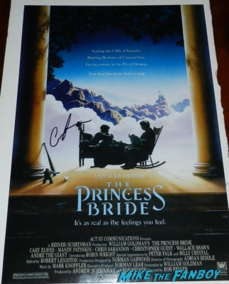 princess bride mini movie poster signed autograph carol kane signing autographs for fans geffen party billy crysta 003